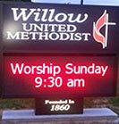 New Willow Sign